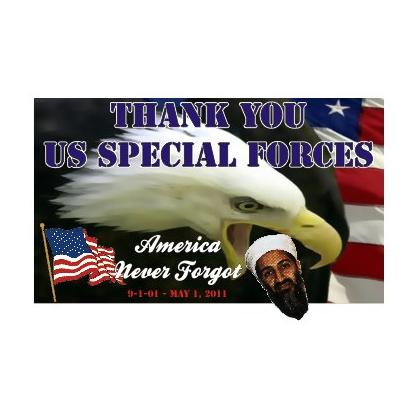 BIN LADEN FOUND - THANK YOU SPECIAL FORCES T-SHIRT Image