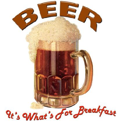 BEER • IT'S WHAT'S FOR BREAKFAST T-SHIRT Image