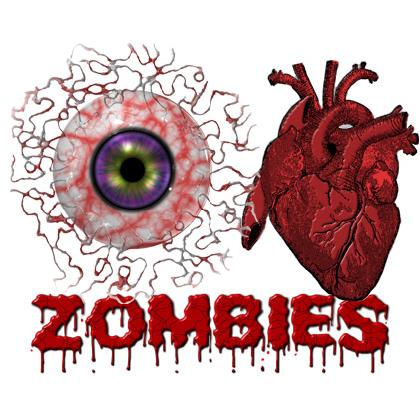 EYE HEART (I LOVE) ZOMBIES T-SHIRT Image