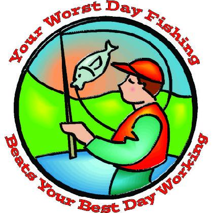 YOUR WORST DAY FISHING BEATS BEST WORK DAY T-SHIRT Image