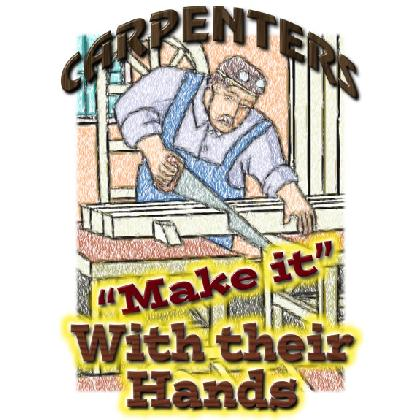 "CARPENTERS ""MAKE IT"" WITH THEIR HANDS T-SHIRT Image"