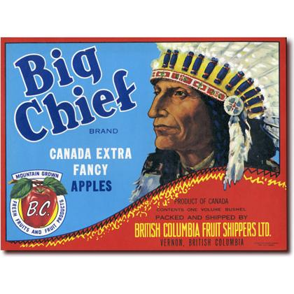 BIG CHIEF APPLES CRATE LABEL T-SHIRT Image