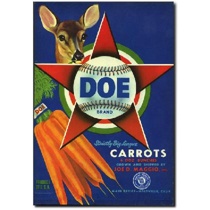 DOE BRAND CARROTS CRATE LABEL T-SHIRT Image