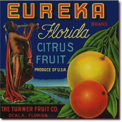 EUREKA FLORIDA CITRUS FRUIT CRATE LABEL T-SHIRT Image