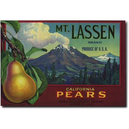 MT. LASSEN CALIFORNIA PEARS CRATE LABEL T-SHIRT Image
