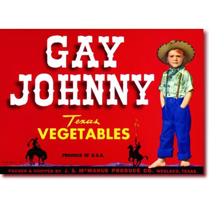 GAY JOHNNY CRATE LABEL T-SHIRT Image