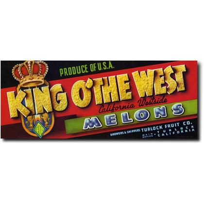 KING O' THE WEST MELONS CRATE LABEL T-SHIRT Image
