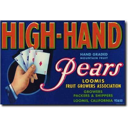 HIGH-HAND PEARS CRATE LABEL T-SHIRT Image