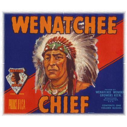 WINATCHEE CHIEF CRATE LABEL T-SHIRT Image