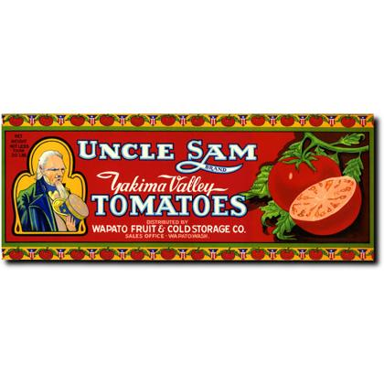 UNCLE SAM TOMATOES CRATE LABEL T-SHIRT Image