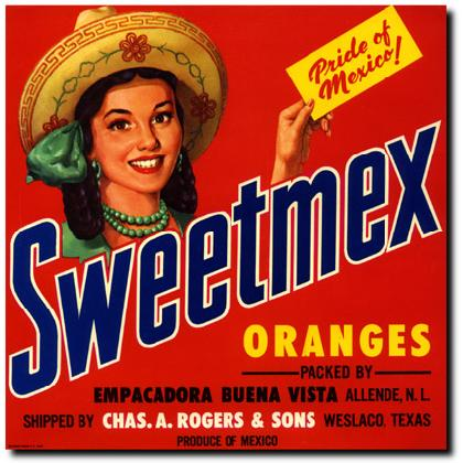 SWEETMEX ORANGES CRATE LABEL T-SHIRT Image