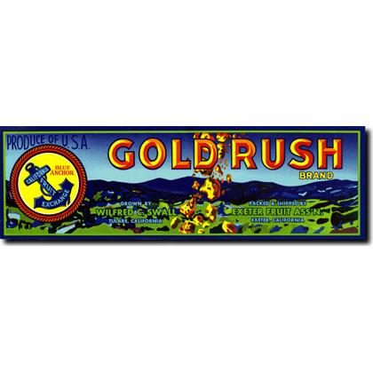 GOLD RUSH CRATE LABEL T-SHIRT Image