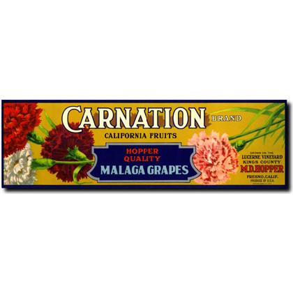 CARNATION MALAGA GRAPES CRATE LABEL T-SHIRT Image