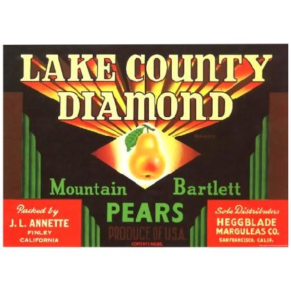 LAKE COUNTY DIAMOND BRAND PEARS T-SHIRT Image