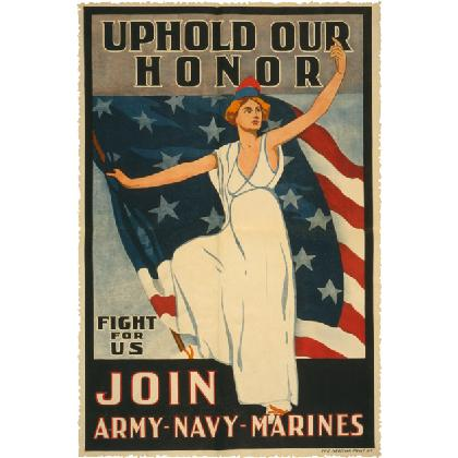 UPHOLD OUR HONOR • JOIN ARMY-NAVY-MARINES T-SHIRT Image