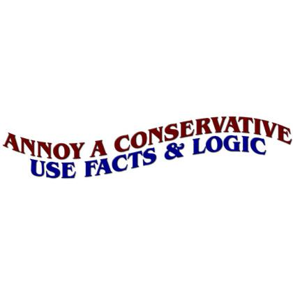 ANNOY A CONSERVATIVE • USE FACTS & LOGIC T-SHIRT Image